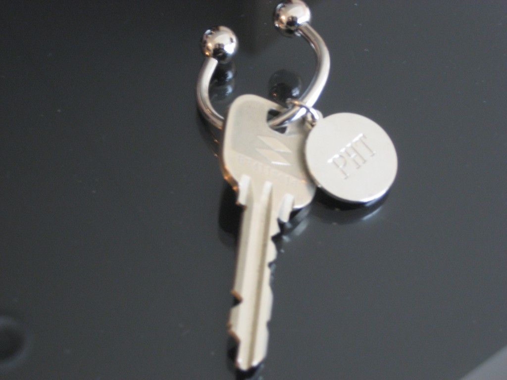 The classy key from the Park Hyatt. (Photo: Brian Cramer)