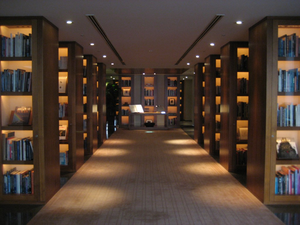 """Library"" in the Park Hyatt, located on-route to the lobby. (Photo: Brian Cramer)"