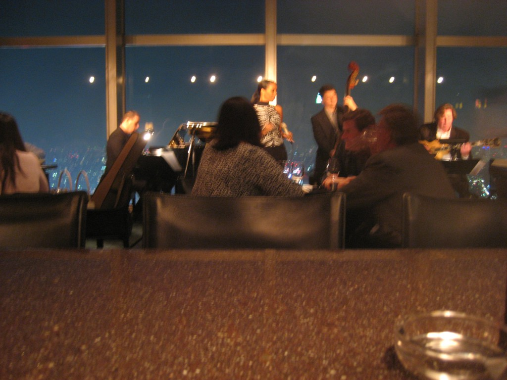 The lounge at the top floor of the Park Hyatt, and the singer who would not sleep with Bill. (Photo: Brian Cramer)