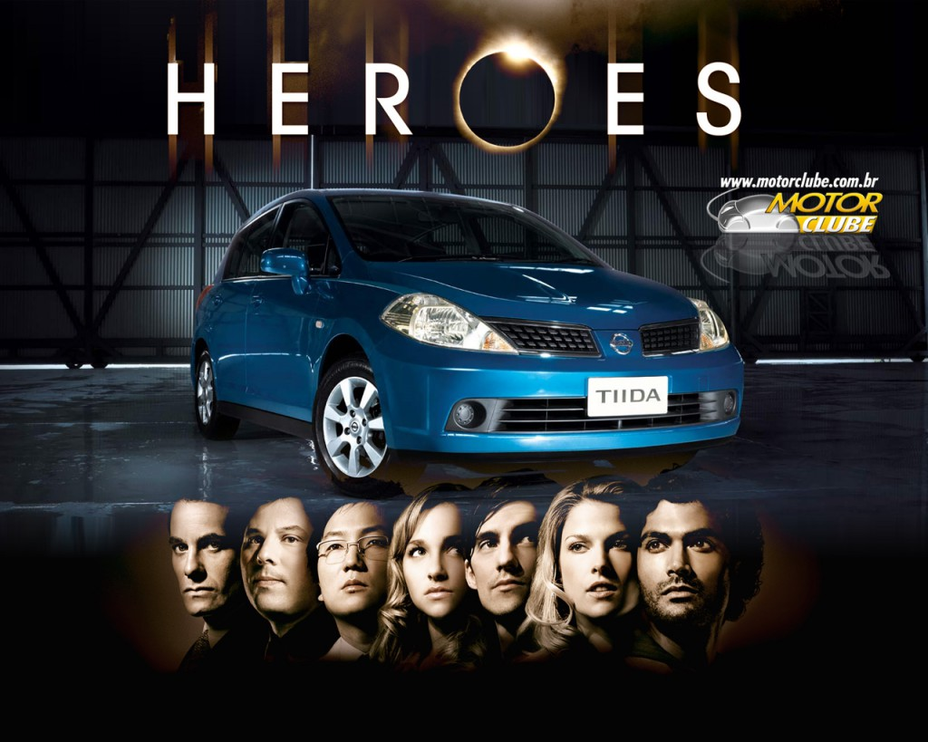 It's a Nissan Tiida. They call it a Versa in America. It was in Heroes. Have you seen Heroes? I loved Heroes. (Photo: motorclube.com.br)
