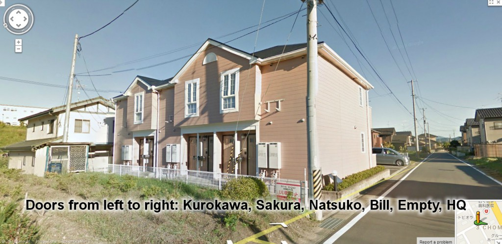 Front view of Bill and Natsuko's apartment complex. (Photo: Google)