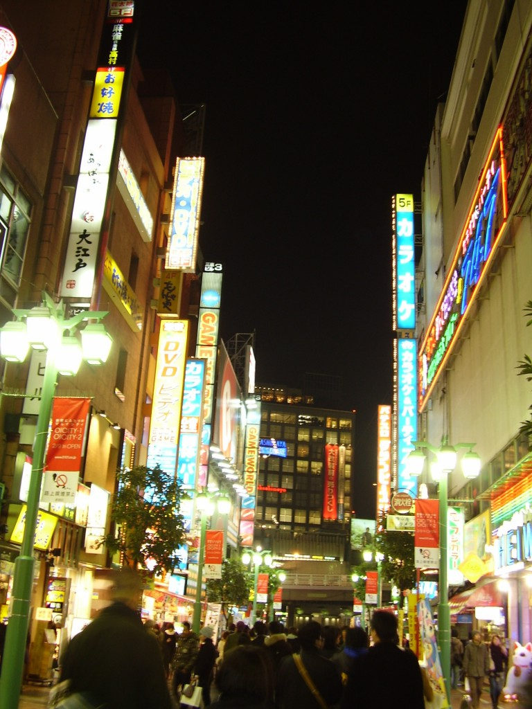 Another shot of the eye-searing lights of Shinjuku.