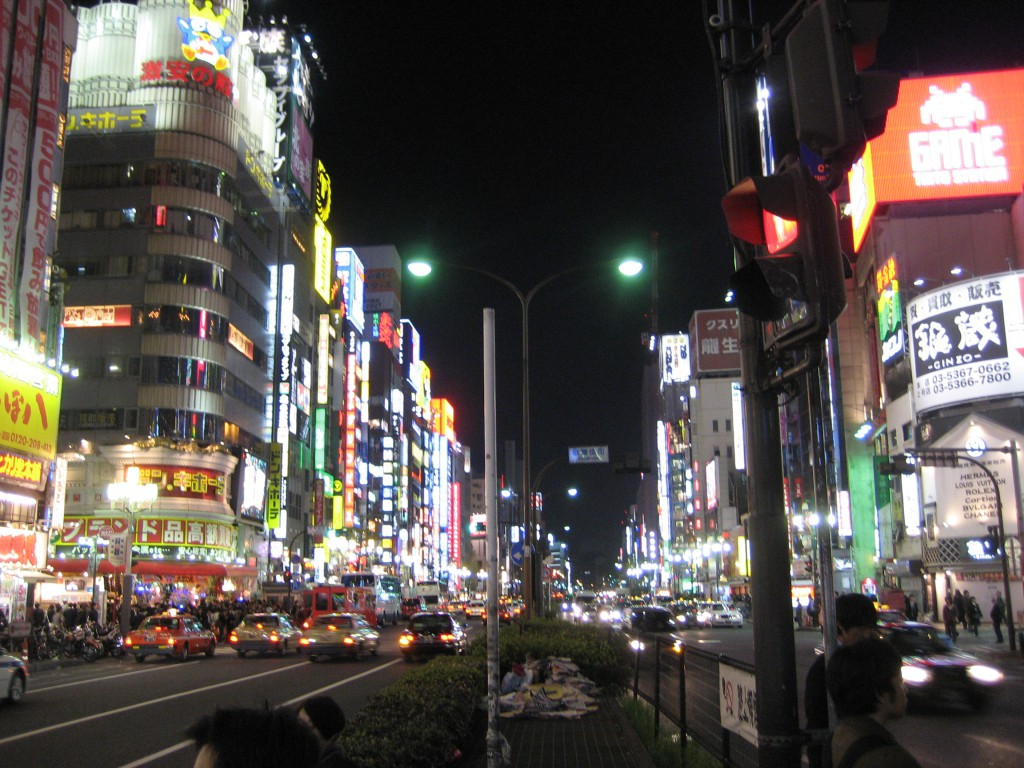 "Shinjuku at night. In the book, I reference the movie ""Lost in Translation"" a few times. Coincidentally, you can see this very same view in the very beginning of the movie when Bill Murray is riding in the taxi to his hotel. (Photo: Brian Cramer)"