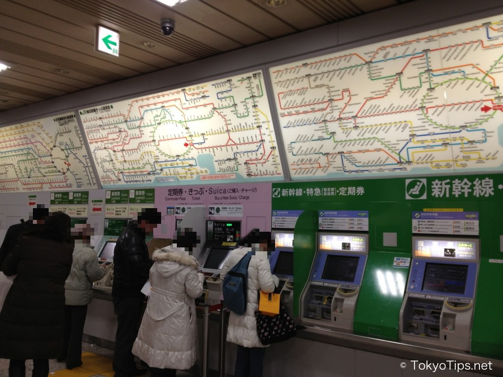 Japan Railway maps and ticket machines. (Photo: TokyoTips.net)
