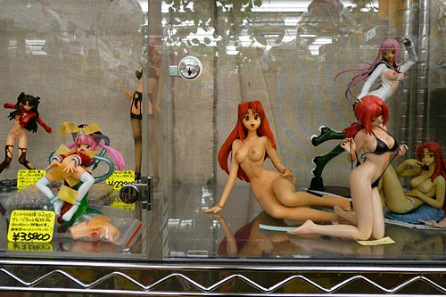 Anime dolls in Akihabara, probably not for children. (Photo: bugbog.com)
