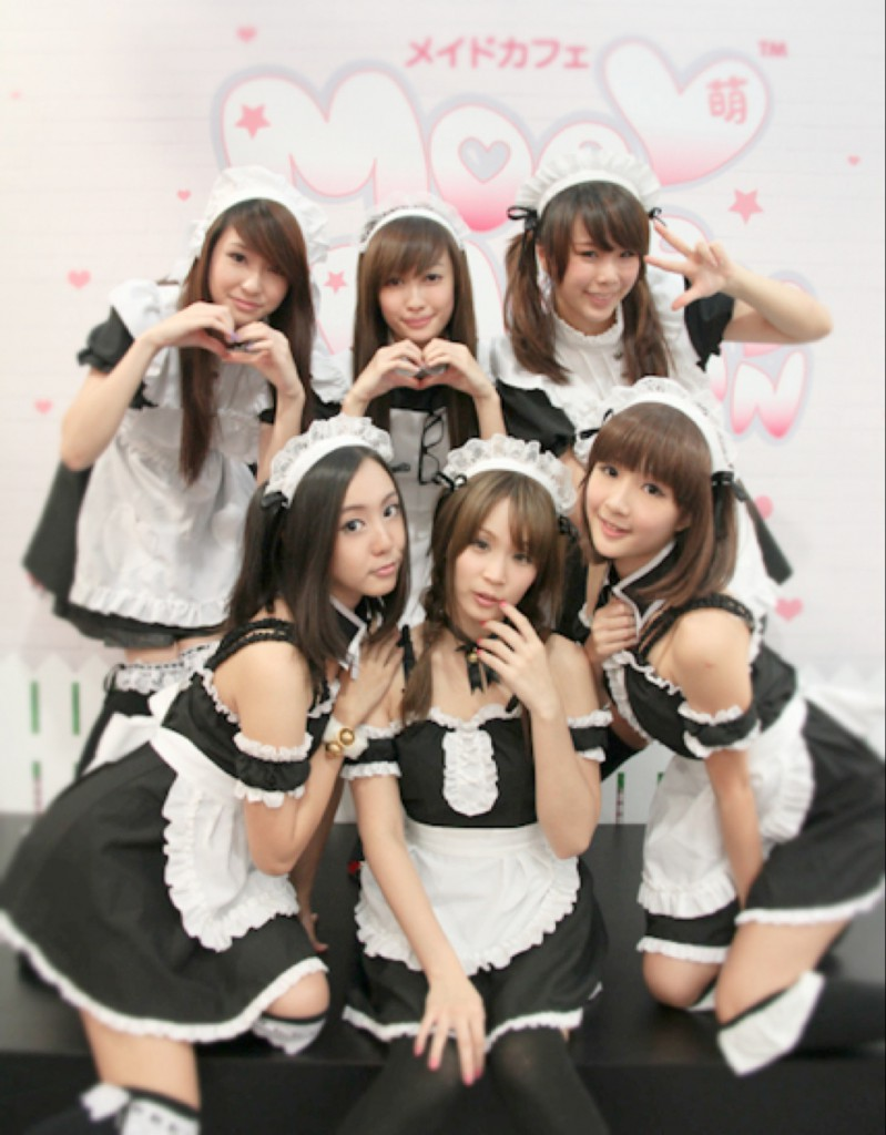 French (or rather Japanese) maids. OK, I guess they can be cute, too. (Photo: Gaijin Report)